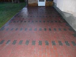 Brick patio after restoration